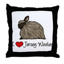 I Heart Jersey Woolies Throw Pillow