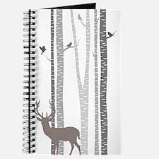 Birch Trees with Deer Journal