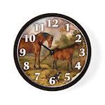 Country Scene Horse Wall Clock