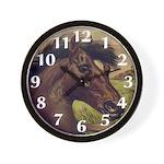 Brown Horse Wall Clock
