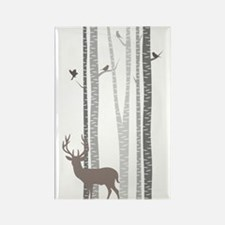 Birch Trees With Deer Magnets