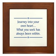 Journey Into Heart Framed Tile