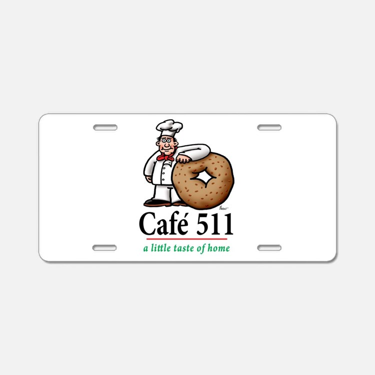 cafe 511 logo Aluminum License Plate
