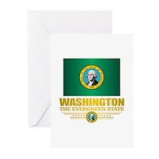 Washington Flag (v15) Greeting Cards