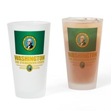 Washington Flag (v15) Drinking Glass
