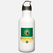 Washington Flag (v15) Water Bottle