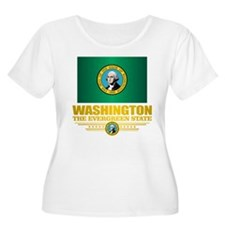 Washington Flag (v15) Plus Size T-Shirt