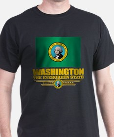 Washington Flag (v15) T-Shirt