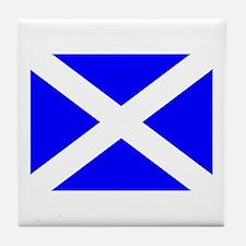 Scotland Flag Tile Coaster