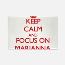 Keep Calm and focus on Marianna Magnets
