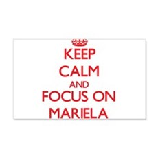 Keep Calm and focus on Mariela Wall Decal