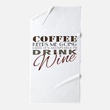 Coffee keeps me going Beach Towel