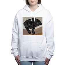 Jewel the Puggle puppy Women's Hooded Sweatshirt