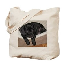 Jewel the Puggle puppy Tote Bag