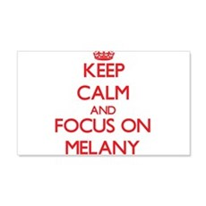 Keep Calm and focus on Melany Wall Decal