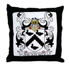 Bickford Family Crest Throw Pillow