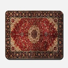 Persian Rug Red and Gold Mousepad