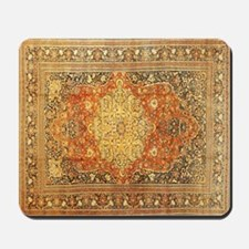Tabriz Persian Rug Gold and Red Mousepad