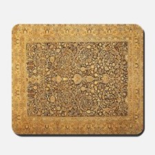 Antique Kerman Persian Rug Geometric Mousepad