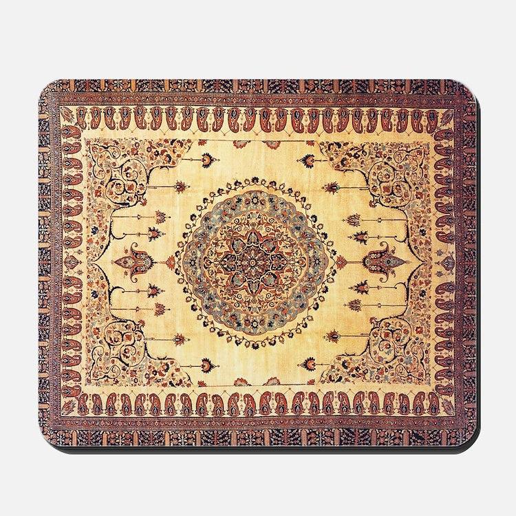 Persian Rug Brown and Tan Mousepad