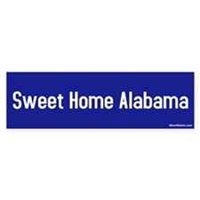 Sweet Home Alabama Bumper Car Sticker