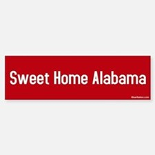 Sweet Home Alabama Bumper Car Car Sticker
