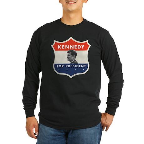 ob tshirt shield 01 jfk Long Sleeve T-Shirt