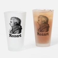 Mozart T-shirts and gifts. Drinking Glass