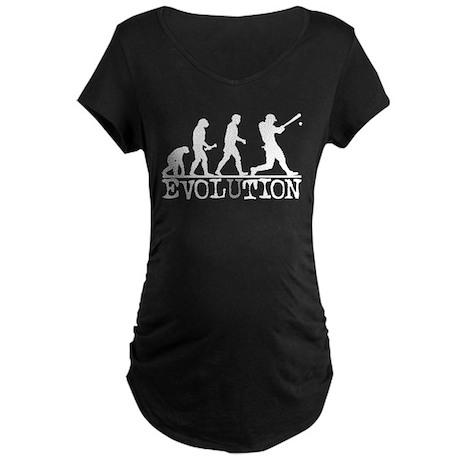 EVOLUTION Baseball Maternity Dark T-Shirt