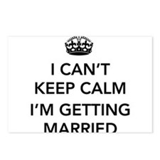I Can't Keep Calm, I'm Getting Married Postcards (