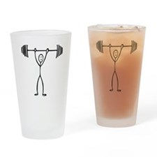 Weight lifting T-shirts and gifts. Drinking Glass