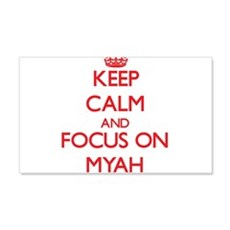 Keep Calm and focus on Myah Wall Decal