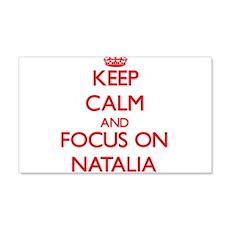 Keep Calm and focus on Natalia Wall Decal