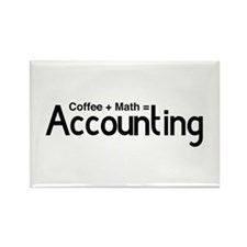 coffee plus math equals accounting Magnets
