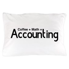 coffee plus math equals accounting Pillow Case