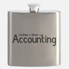 coffee plus math equals accounting Flask