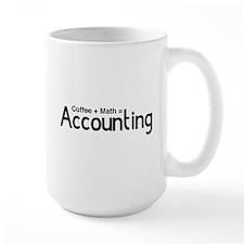 coffee plus math equals accounting Mugs