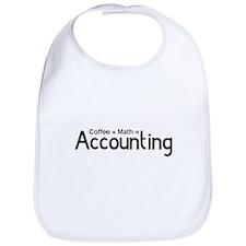coffee plus math equals accounting Bib