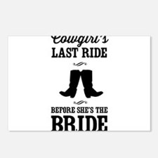 Cowgirls Last Ride, Before Shes the Bride Postcard