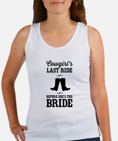Cowgirls Last Ride, Before Shes the Bride Tank Top