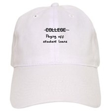 college paying off student loans Baseball Baseball Cap
