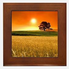 Wheat Field Framed Tile