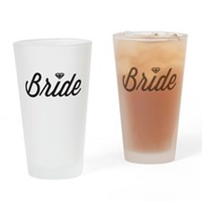 Diamond Bride Drinking Glass