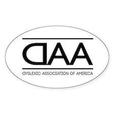 DAA dyslexic association of america Decal