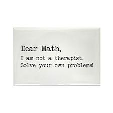 dear math therapist Magnets
