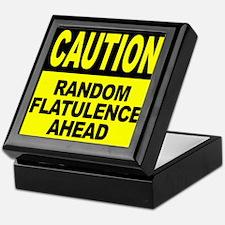 Random Flatulence Ahead Keepsake Box