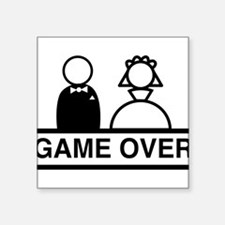 Marriage = Game Over Sticker