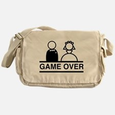 Marriage = Game Over Messenger Bag