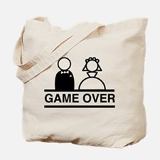 Marriage = Game Over Tote Bag