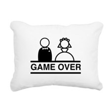 Marriage = Game Over Rectangular Canvas Pillow